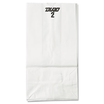 2# Paper Bag, 30lb, White, 4 5/16 x 5 15/16 x 7 7/8, 500/Pack
