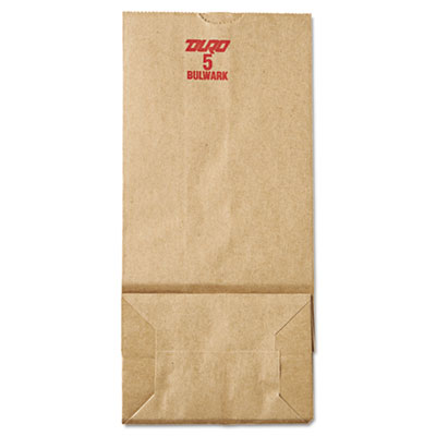 5# Paper Bag, 50lb Kraft, Brown, 5 1/4 x 3 7/16 x 10 15/16, 500/