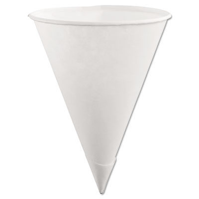 Paper Cone Cups, 6oz, White, 200/Pack, 12 Packs/Carton
