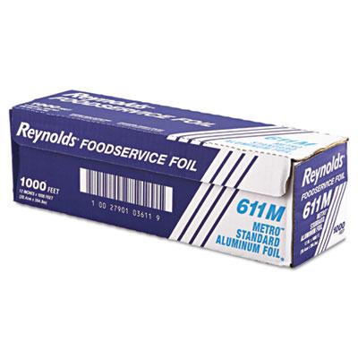 "Metro Aluminum Foil Roll, Lighter Gauge Standard, 12"" x 1000ft,"