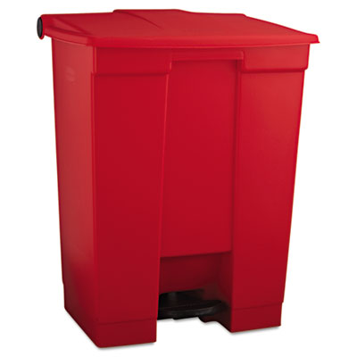 Indoor Utility Step-On Waste Container, Rectangular, Plastic, 18
