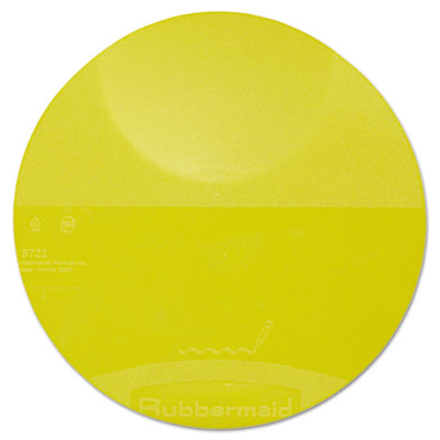 Round Storage Container Lids, 8 3/4 dia x 7/8h, Yellow
