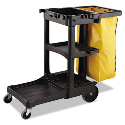 Zippered Vinyl Cleaning Cart Bag, 21gal, 17 1/4w x 10 1/2d x 30