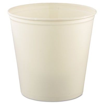 Double Wrapped Paper Bucket, Waxed, White, 165oz, 100/Carton