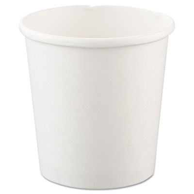 Flexstyle Double Poly Paper Containers, 16oz, White, 25/Pack, 20