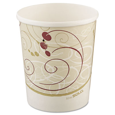 Flexstyle Double Poly Paper Containers, 32oz, Symphony Design, 5