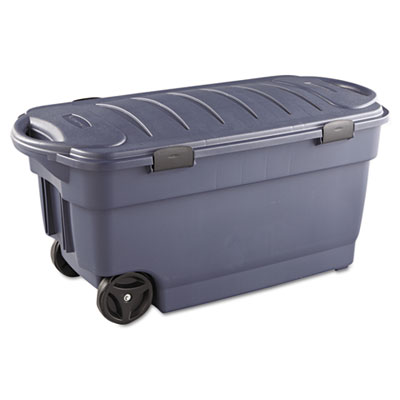 Roughneck Wheeled Storage Box, 45gal, Dark Indigo Metallic