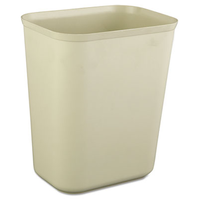 Fire-Resistant Wastebasket, Rectangular, Fiberglass, 1.75gal, Be
