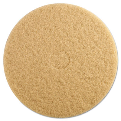 "Ultra High-Speed Floor Pads, 19"" dia, Champagne, 5/Carton"