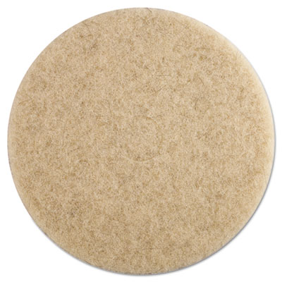 """Ultra High-Speed Floor Pads, 19"""" dia, Natural Hair, Champagne, 5"""