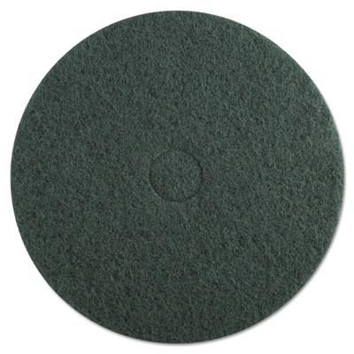 "Standard Floor Pads, 20"" dia, Green, 5/Carton"