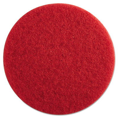 "Standard Floor Pads, 13"" dia, Red, 5/Carton"