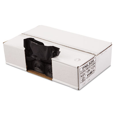 Linear Low Density Can Liners, 33 x 39, Black, 100/Carton