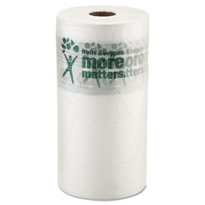 Produce Bag, 10 x 15, 9 Microns, Natural, 1400/Roll, 4 Rolls/Car