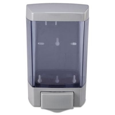Plastic Soap Dispenser, 46oz, 5 1/2w x 4 1/4d x 8 1/2h, Trans Gr