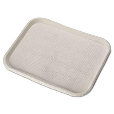 Savaday Molded Fiber Food Trays, 14 x 18, White, Rectangular, 10