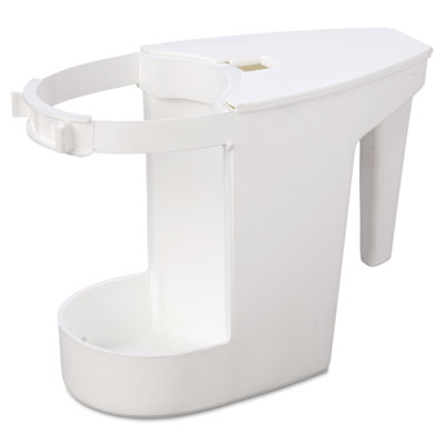 "Super Toilet Bowl Caddy w/Brush, 4w x 8d, 6"" Long, Plastic, 12/C"