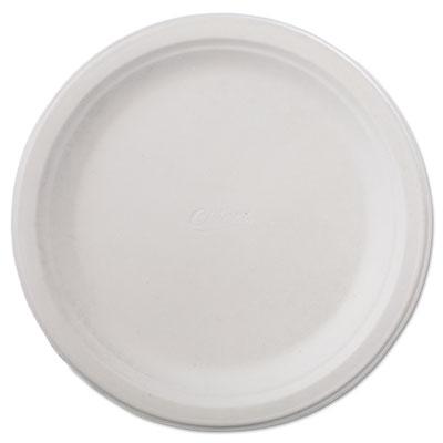 "Classic Paper Dinnerware, Plate, 9 3/4"" dia, White, 125/Pack, 4"