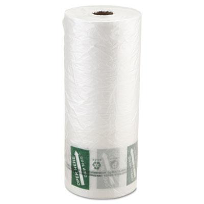 Produce Bag, 12 x 20, 9 Microns, Natural, 875/Roll, 4 Rolls/Cart
