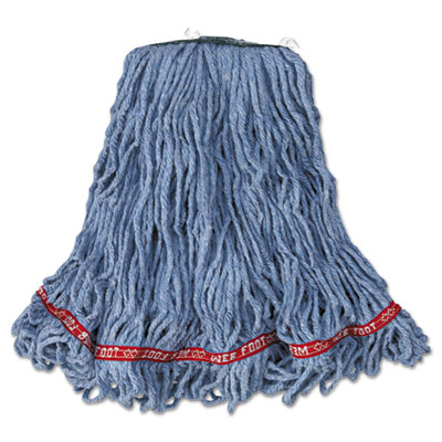 Web Foot Looped-End Wet Mop Head, Cotton/Synthetic, Medium Size,