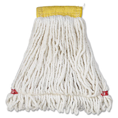 Web Foot Wet Mop Head, Shrinkless, Cotton/Synthetic, White, Smal