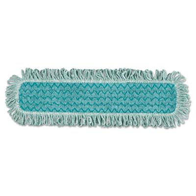 HYGEN Microfiber Fringed Dust Mop Pad, 24w x 9d, Green, 6/Carton