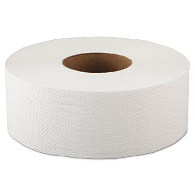 Jumbo Bathroom Tissue, 2-Ply, White, 500ft, 12 Rolls/Carton