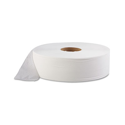 "SCOTT JRT Jumbo Roll Bathroom Tissue, 1-Ply, 12"" dia, 4000ft, 6/"