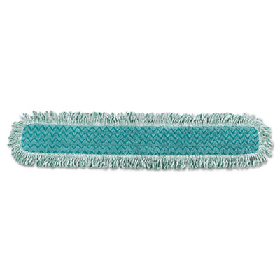 "HYGEN Dry Dusting Mop Heads with Fringe, 36"", Microfiber, Green,"