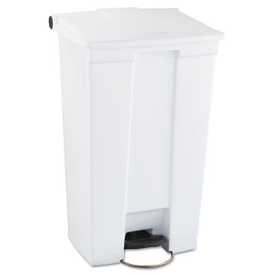 Indoor Utility Step-On Waste Container, Rectangular, Plastic, 23