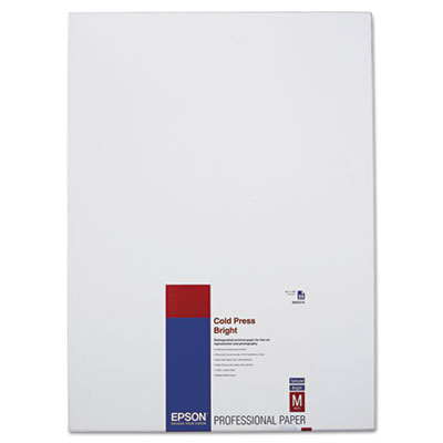 Cold Press Bright Fine Art Paper, 13 x 19, Bright White, 25 Shee