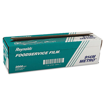 "Metro Light-Duty PVC Film Roll w/Cutter Box, 18"" x 2000ft, Clear"