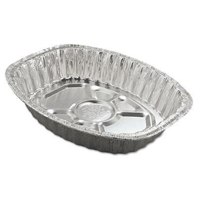Aluminum Roasting Container, Oval, 17 11/16 x 14 7/16 x 3 1/4, 2