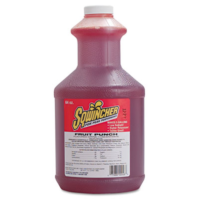 Liquid Concentrate Electrolyte Drink, Fruit Punch, 64oz Bottles,
