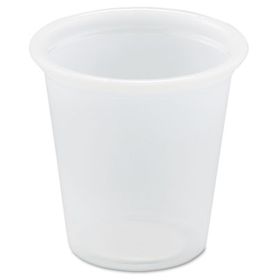 Polystyrene Portion Cups, .75oz, Translucent, 250/Bag, 20 Bags/C