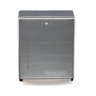 C-Fold/Multifold Towel Dispenser, 11 3/8w x 4d x 14 3/4h, Stainl