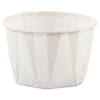 Paper Portion Cups, 2oz, White, 250/Bag, 20 Bags/Carton