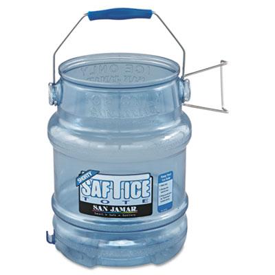 Saf-T-Ice Tote, 5gal, Transparent Blue