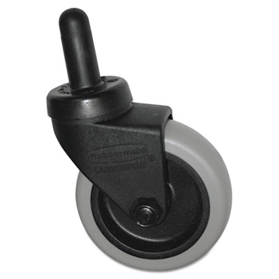 "Replacement Swivel Bayonet Casters, 3"" Wheel, Thermoplastic Rubb"