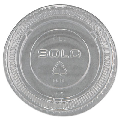 No-Slot Plastic Cup Lids, 1.5-3.5oz Cups, Clear, 100/Sleeve, 25