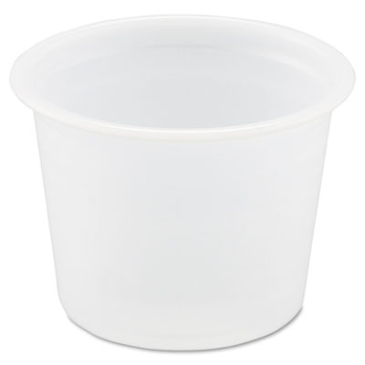Polystyrene Portion Cups, 1oz, Translucent, 250/Bag, 20 Bags/Car