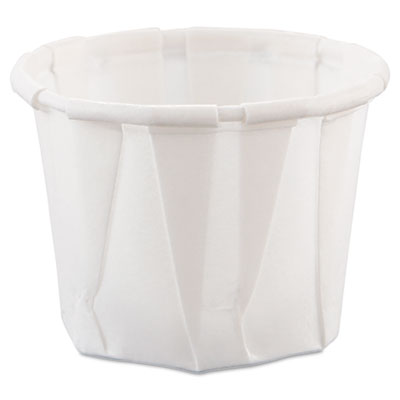 Paper Portion Cups, .75oz, White, 250/Bag, 20 Bags/Carton