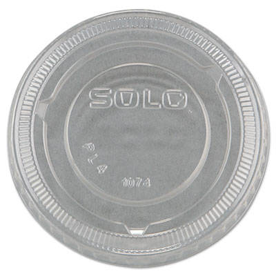 No-Slot Plastic Cup Lids, 3.25-9oz Cups, Clear, 100/Sleeve, 25 S
