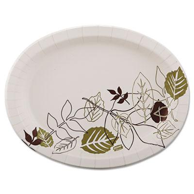 Ultra Pathways Heavyweight Oval Platters, 8 1/2 x 11, Green/Burg