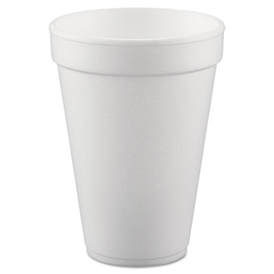 Conex Hot/Cold Foam Drinking Cups, 10oz, White, 40/Bag, 25 Bags/
