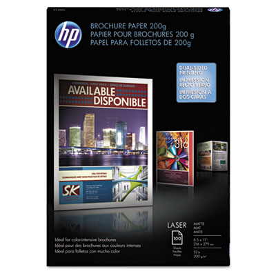 HP HEWQ8824A Laser Matte Brochure Paper, 52 lb., 8-1/2 x 11, White, 100 S at Sears.com