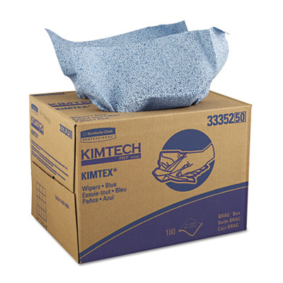 KIMTECH PREP KIMTEX Wipers, 12 1/10 x 16 4/5, Blue, 180/BRAG Box