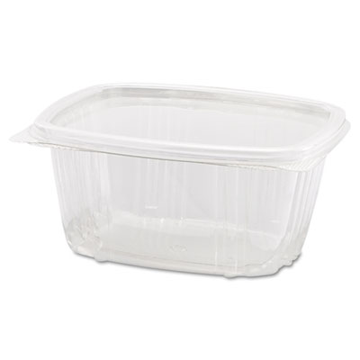 Clear Hinged Deli Container, 8oz, 5 3/8 x 4 1/2 x 1 1/2, 100/Bag