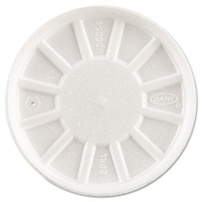 Vented Foam Lids, Fits 6-32oz Cups, White, 500/Carton