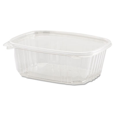 Clear Hinged Deli Container, 32oz, 7 1/4 x 6 2/5 x 2 5/8, 100/Ba